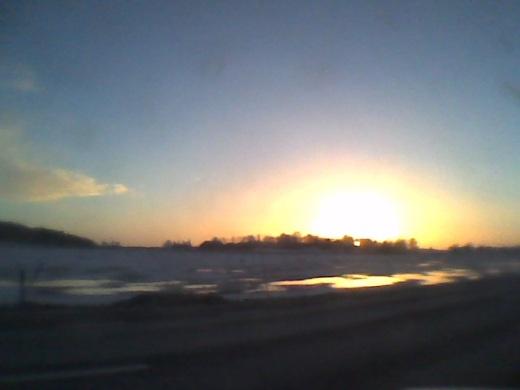 Solnedgång över Vallby 16:04