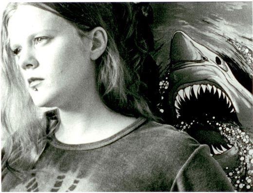 Havets predator bakom intet anande modell.