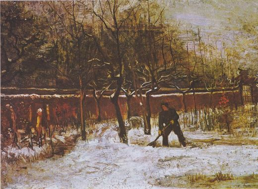 Vincent van Gogh: The Rectory Garden in Nuenen in the Snow, January 1885